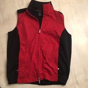 Ralph Lauren Golf vest. Black and red. EUC SZ S